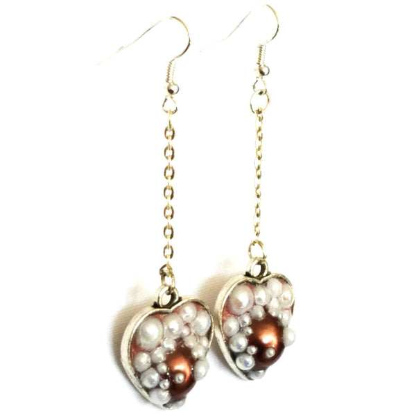 Heart Shaped Bubble Earrings to Support Phoenix House | MysticTrinketShop.com - Earrings - 2