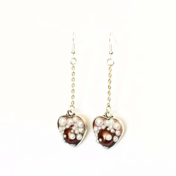 Heart Shaped Bubble Earrings to Support Phoenix House | MysticTrinketShop.com - Earrings - 4
