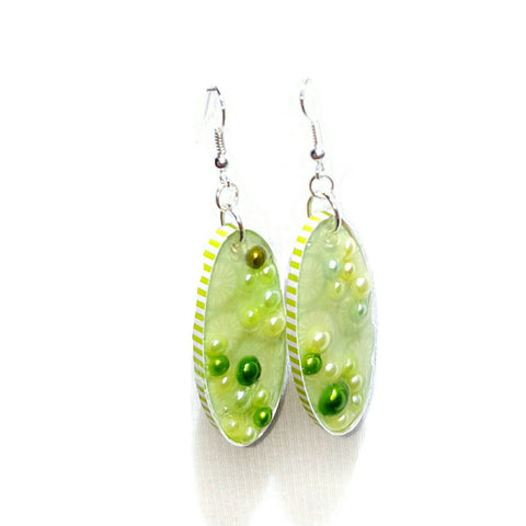 Lime Green Bubble Earrings - Earrings - 1