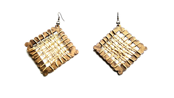 Wood and Hemp Earrings | MysticTrinketShop.com - Earrings - 2