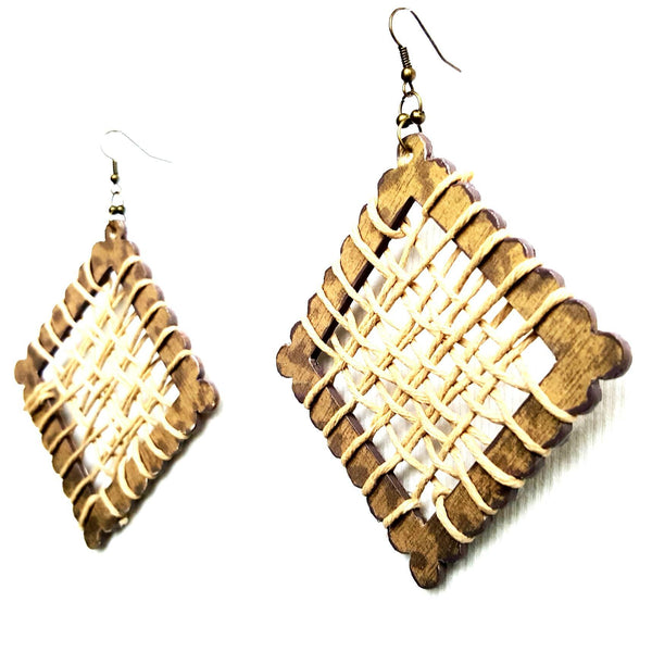 Wood and Hemp Earrings | MysticTrinketShop.com - Earrings - 3