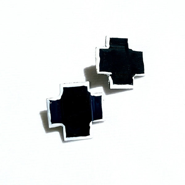 X Earrings in Black - Earrings - 1