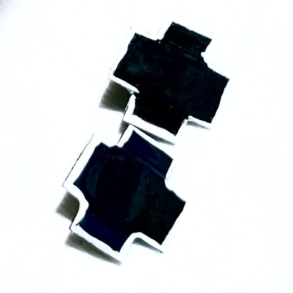 X Earrings in Black - Earrings - 3