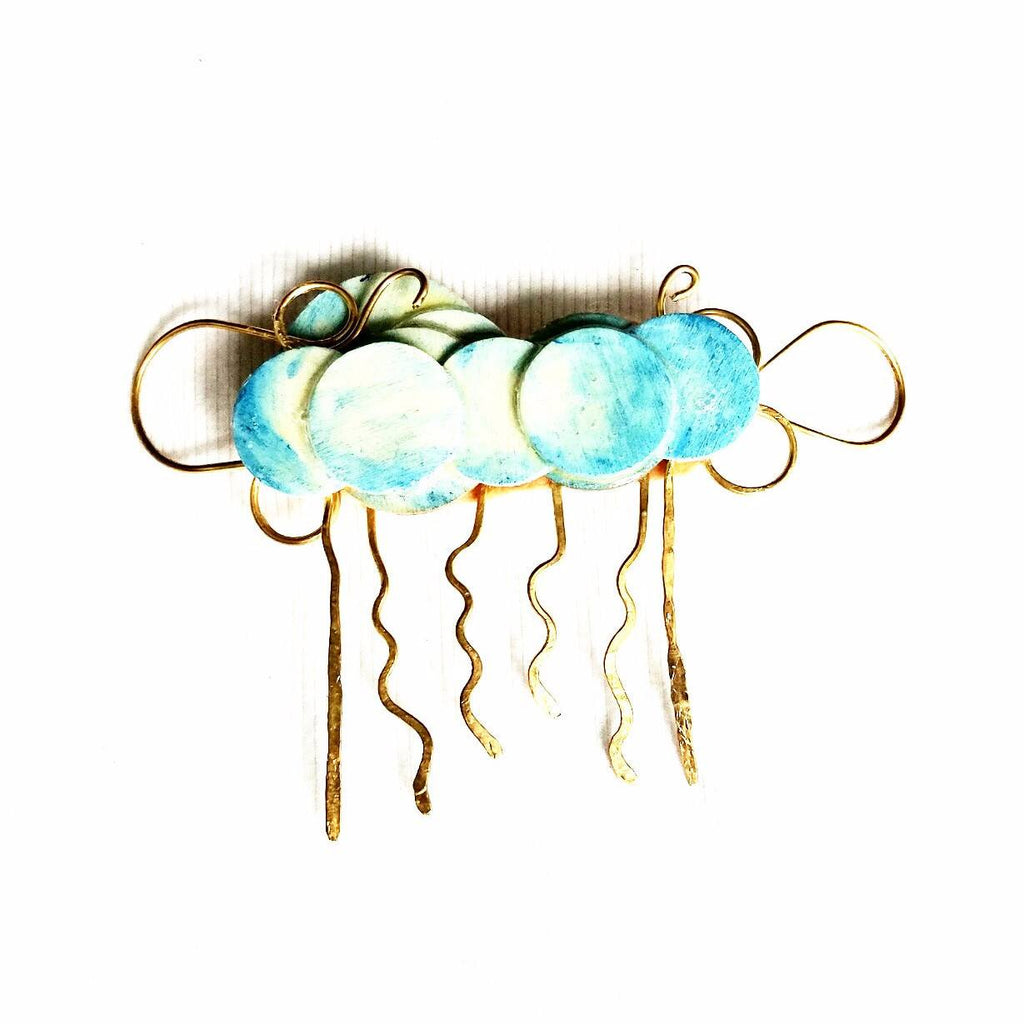 Hair Accessories - Wooden Cloud Hair Comb