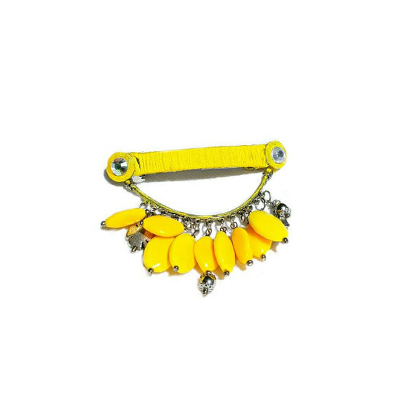 Yellow Beaded Barrette - Hair Accessories - 2