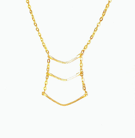 Gold Geometric Necklace  | MysticTrinketShop.com - Necklace - 1