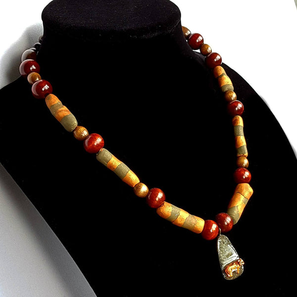 Beaded Tiger Necklace - necklace - 4