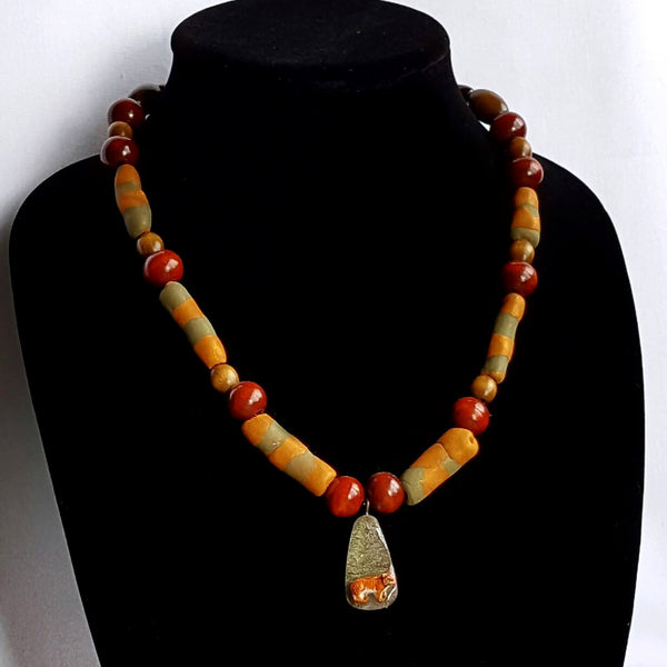 Beaded Tiger Necklace - necklace - 5