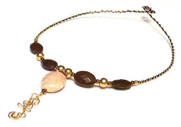 Copper Serpent Egg Choker - Jewelry - Necklace - 1