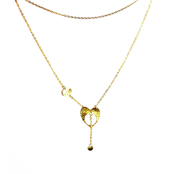 Donate to Charity Water - Brass Heart Necklace Handmade by  MysticTrinketShop.com - Necklace - 1