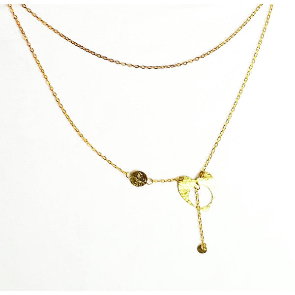 Donate to Charity Water - Brass Heart Necklace Handmade by  MysticTrinketShop.com - Necklace - 2