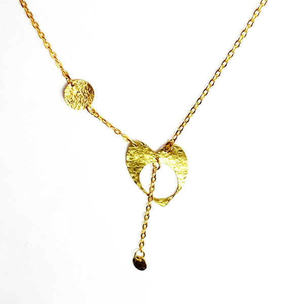 Donate to Charity Water - Brass Heart Necklace Handmade by  MysticTrinketShop.com - Necklace - 3