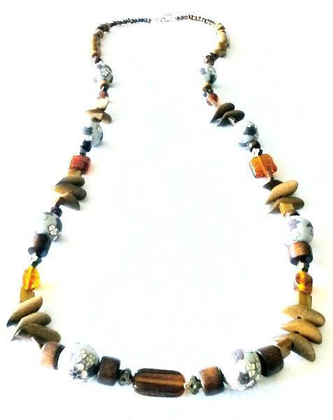 Donate to the Urban League -  Necklace Wood Bead and Glass Necklace | MysticTrinketShop.com - Necklace - 2