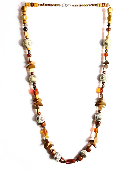 Donate to the Urban League -  Necklace Wood Bead and Glass Necklace | MysticTrinketShop.com - Necklace - 3
