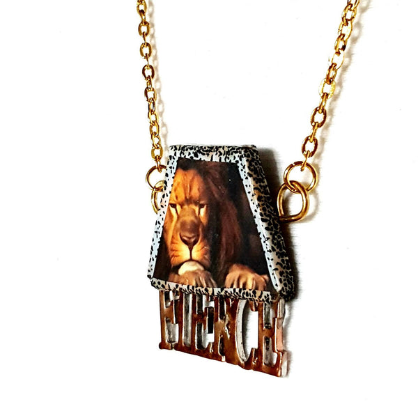 Fierce Lion Necklace | MysticTrinketShop.com - Necklace - 1