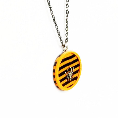 Halloween Spider Stripe Necklace - Necklace - 1