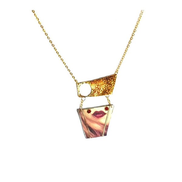 Necklace - Lips Art Necklace | MysticTrinketShop.com - Necklace - 5