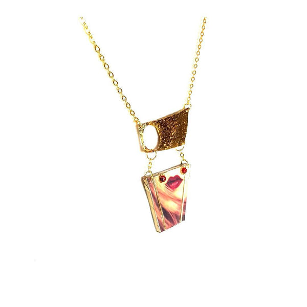 Necklace - Lips Art Necklace | MysticTrinketShop.com - Necklace - 2