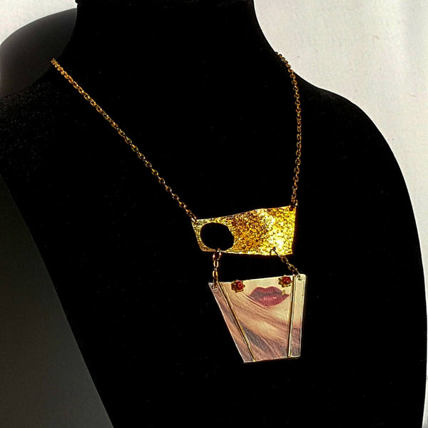 Necklace - Lips Art Necklace | MysticTrinketShop.com - Necklace - 7
