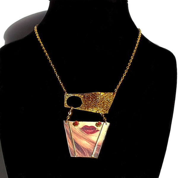 Necklace - Necklace - Lips Art Necklace | MysticTrinketShop.com