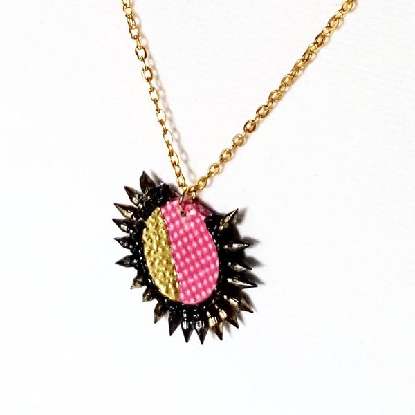 Necklace - PInk and Gold Spiked | MysticTrinketShop.com - Necklace - 2