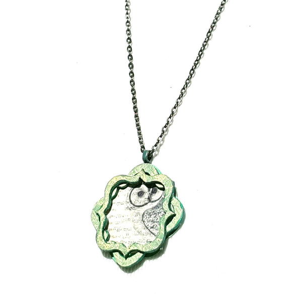Owl Pendant Necklace with Music Notes - Necklace - 2