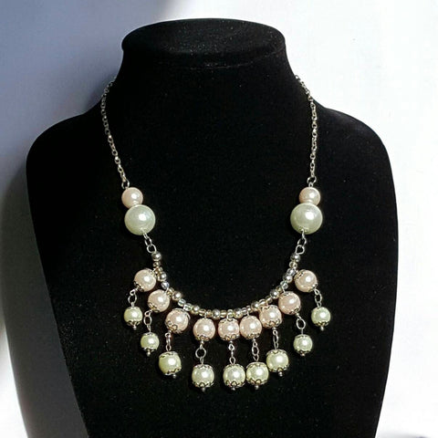 Pink Pearl Necklace | MysticTrinketShop.com - Necklace - 1