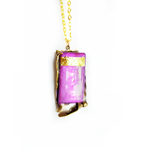 Purple Pendant Necklace - Necklace - 1
