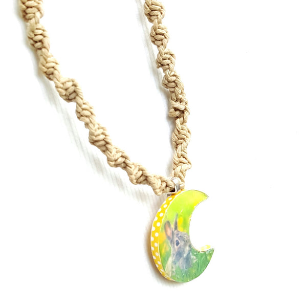 Rabbit in the Moon 21 inch Hemp Necklace - Necklace - 3