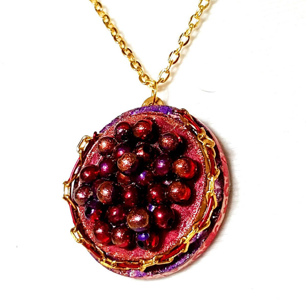 Red Caviar Pendant Necklace - Necklace - 3