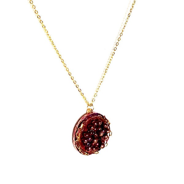 Red Caviar Pendant Necklace - Necklace - 7