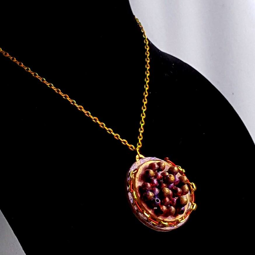 Red Caviar Pendant Necklace - Necklace - 1