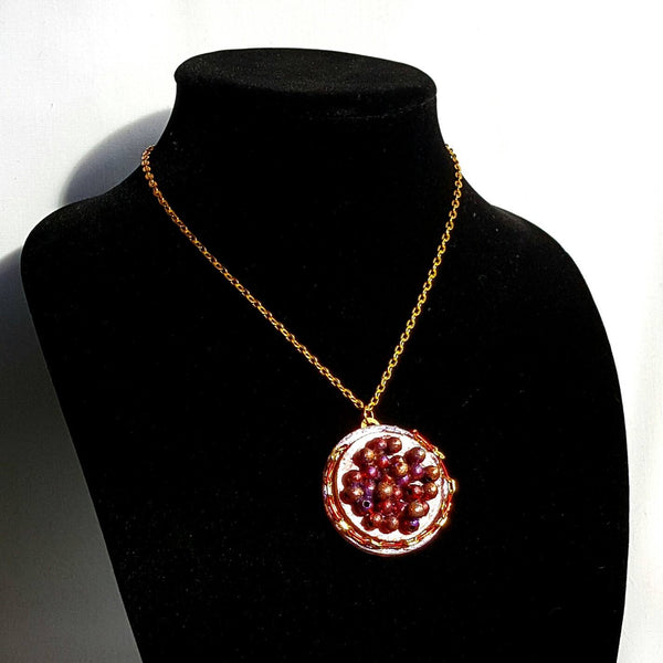 Red Caviar Pendant Necklace - Necklace - 2
