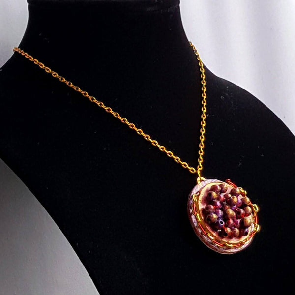 Red Caviar Pendant Necklace - Necklace - 4