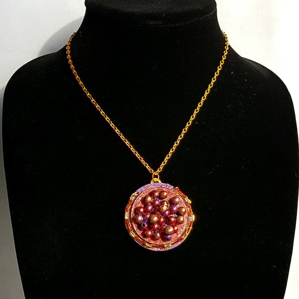 Red Caviar Pendant Necklace - Necklace - 5