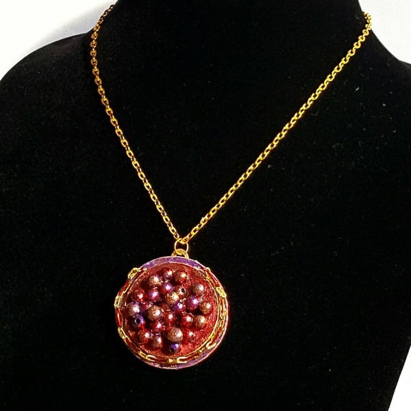 Red Caviar Pendant Necklace - Necklace - 6