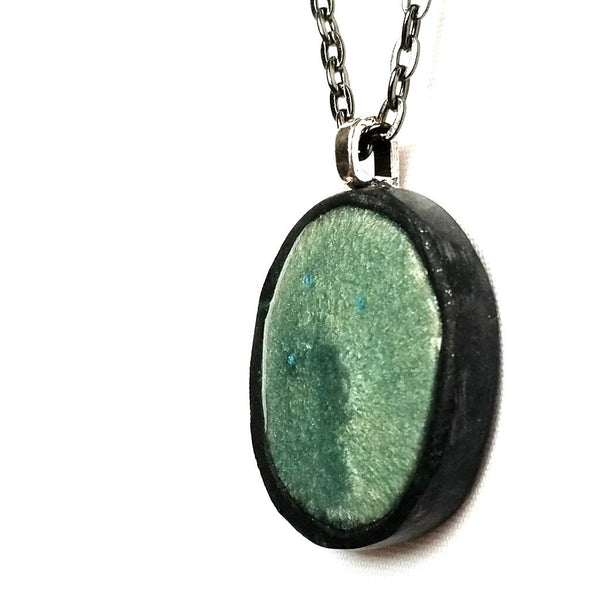 Seafoam Green Pendant Necklace - Necklace - 1