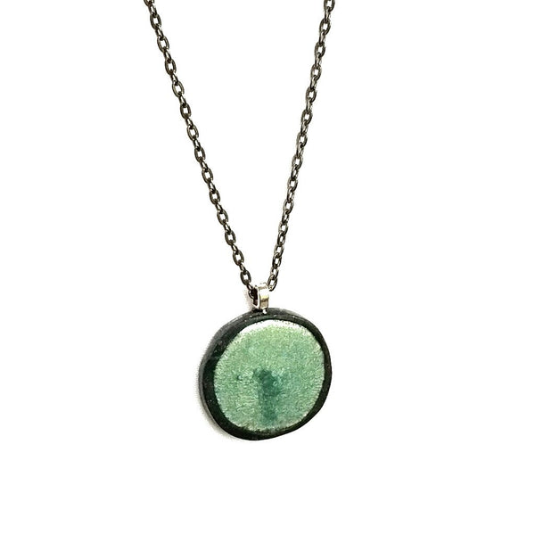 Seafoam Green Pendant Necklace - Necklace - 3
