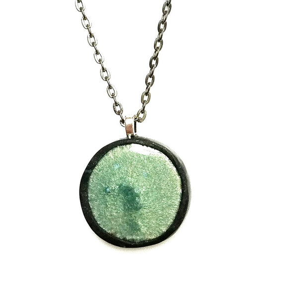 Seafoam Green Pendant Necklace - Necklace - 4