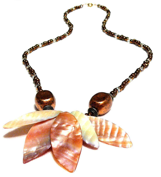 Shell Beaded Necklace - Dakuwaqa Necklace by Mystic Trinket Shop - Necklace - 1