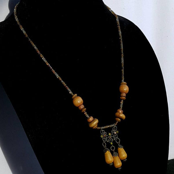 Wood Beaded Celtic Necklace - Druantia Necklace - Necklace - 3