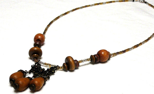 Wood Beaded Celtic Necklace - Druantia Necklace - Necklace - 5