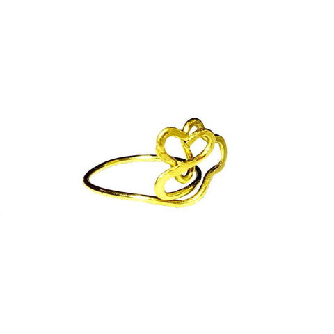 "Brass Heart ""Staryi Tartas Lovers"" Ring - Rings - 1"