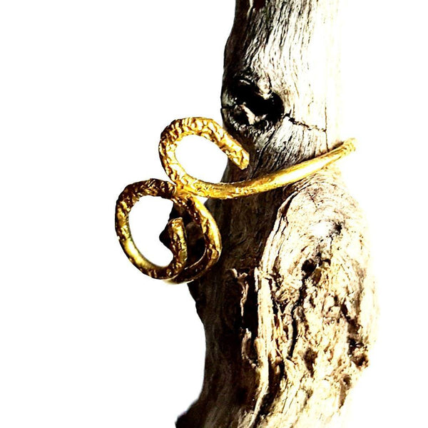 "Brass ""Sprout"" Ring with Texture 