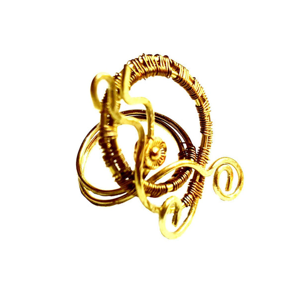 "Gold ""Bloom"" Ring 