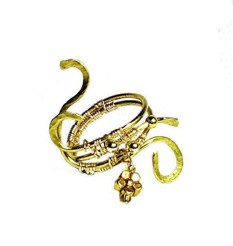 "Gold Wire Wrapped ""Growth"" Ring - Rings - 1"
