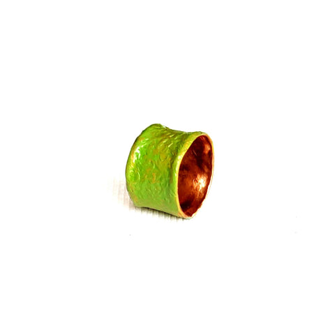 Men's Copper Ring in Green - Rings - 1