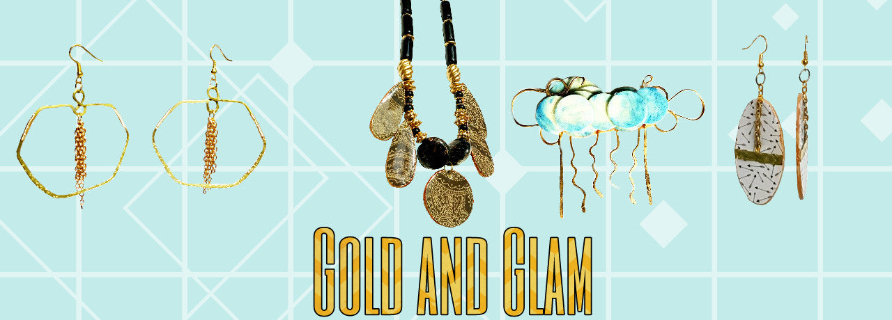 Jewelry Collection Gold and Glam