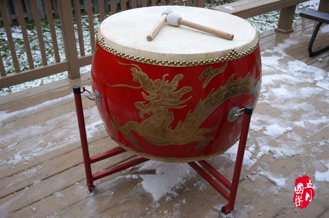 CHINESE SUPER  LARGE FIGHTING DRUM  --  中國超大(24市寸)战鼓