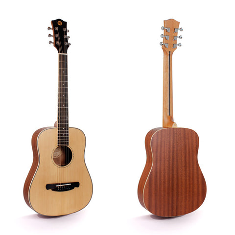 FULL SIZE TOP SOLID ACOUSTIC GUITAR